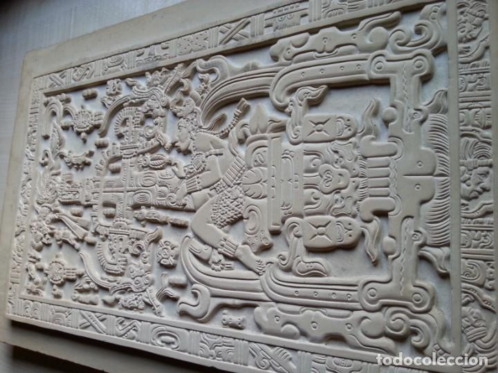 Arte: LOSA DE LA TUMBA DEL ASTRONAUTA DE PALENQUE - ÚNICA ORIGINAL - HECHA A MANO EN PALENQUE - MÉXICO - Foto 2 - 165394866