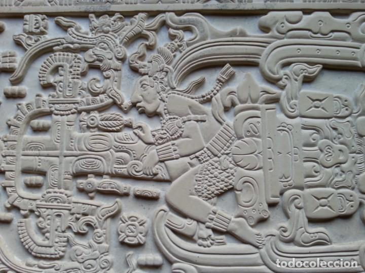 Arte: LOSA DE LA TUMBA DEL ASTRONAUTA DE PALENQUE - ÚNICA ORIGINAL - HECHA A MANO EN PALENQUE - MÉXICO - Foto 3 - 165394866