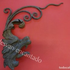 Arte: ANTIGUO DRAGON PARA ORNAMENTO REALIZADO EN HIERRO FORJADO. CIRCA 1900 O ANTERIOR. Lote 165455206