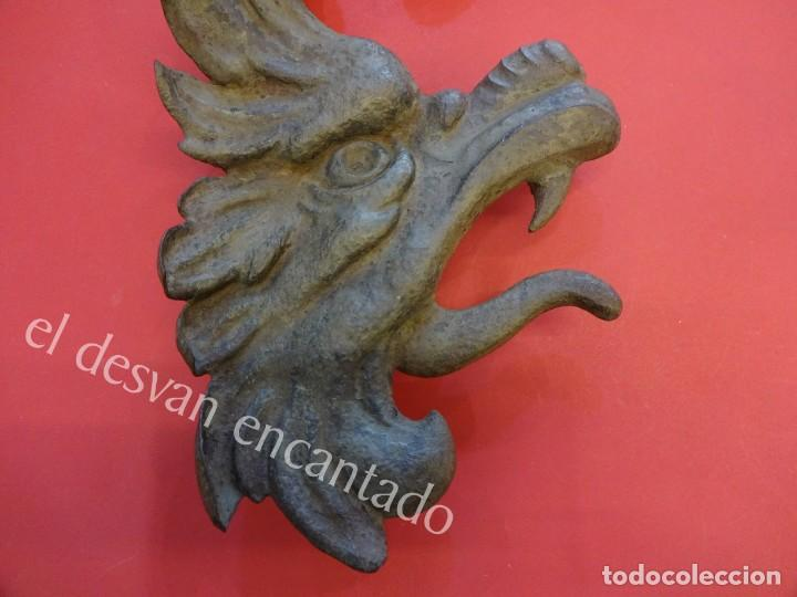 Arte: Antiguo DRAGON para ornamento realizado en hierro forjado. CIRCA 1900 o anterior - Foto 2 - 165455206