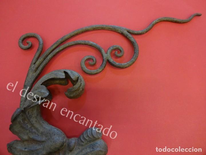 Arte: Antiguo DRAGON para ornamento realizado en hierro forjado. CIRCA 1900 o anterior - Foto 3 - 165455206