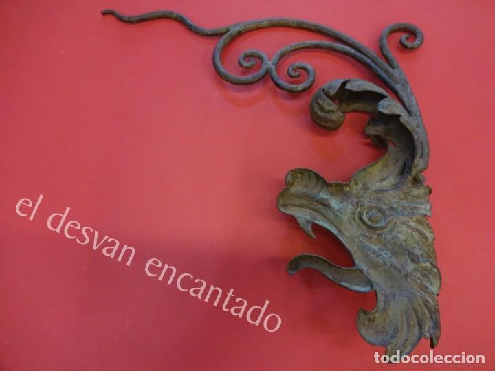 Arte: Antiguo DRAGON para ornamento realizado en hierro forjado. CIRCA 1900 o anterior - Foto 4 - 165455206