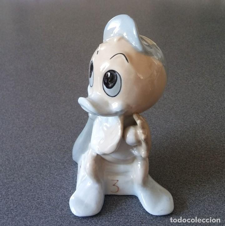 Arte: Figura Porcelana sobrino Pato Donald - Foto 2 - 165586318