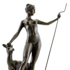 Arte: PRECIOSA ESCULTURA EN BRONCE DE LA DIOSA DE LA CAZA DIANA (32CM & 3,2 KG). Lote 165761198