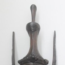 Arte: MASCARA, CARETA O ESCULTURA, TALLADA SOBRE MADERA NOBLE, ORIGEN ASIATICO. Lote 165779714