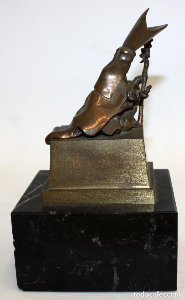 Arte: SALVADOR DALÍ DOMÈNECH (1904-1989) -San Narciso de las moscas- ESCULTURA EN BRONCE NUMERADA AB53/100 - Foto 4 - 166786146