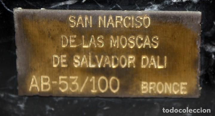 Arte: SALVADOR DALÍ DOMÈNECH (1904-1989) -San Narciso de las moscas- ESCULTURA EN BRONCE NUMERADA AB53/100 - Foto 9 - 166786146