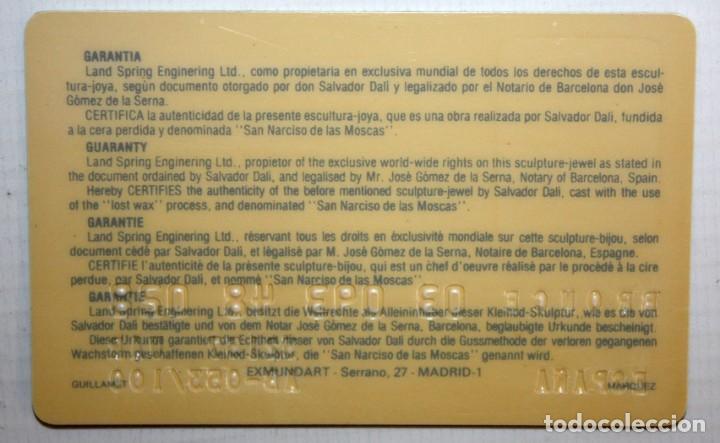 Arte: SALVADOR DALÍ DOMÈNECH (1904-1989) -San Narciso de las moscas- ESCULTURA EN BRONCE NUMERADA AB53/100 - Foto 11 - 166786146