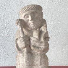 Arte: IMPORTANTE ESCULTURA DE JAUME CLAVELL NOGUERAS- SAN TELMO PATRÓN DE LOS MARINEROS. 1950'S.. Lote 166983352