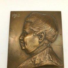 Arte: RETRATO RELIEVE EN BRONCE JOZSEF CSILLAG 1918. Lote 167107468