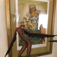 Arte: ESPECTACULAR ANGEL ABSTRACTO DE BRONCE PATINADA, EN HOMENAJE A SALVADOR DALI (56 CM & 5,7 KG). Lote 152554046