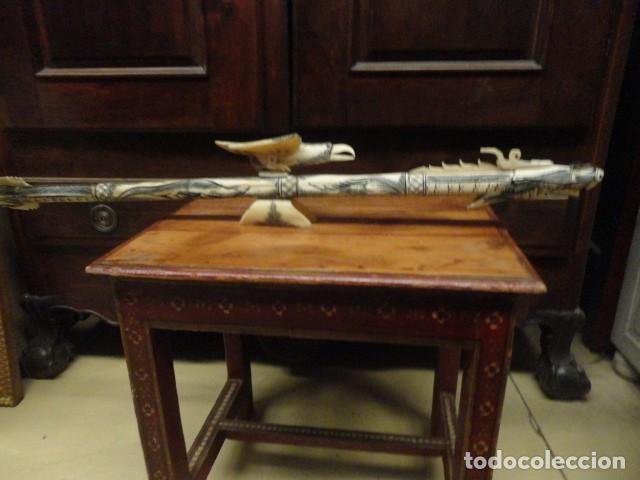 Arte: Dragon oriental realizado en hueso mide 87 cms de largo - Foto 2 - 167526456