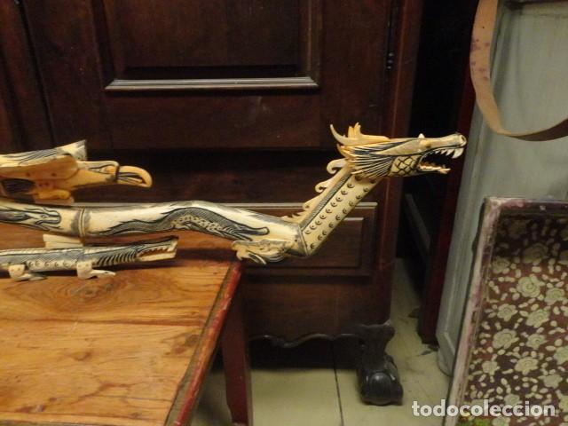 Arte: Dragon orientan realizado en hueso coloreado mide 110 cms de largo - Foto 3 - 167526568