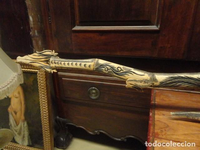 Arte: Dragon orientan realizado en hueso coloreado mide 110 cms de largo - Foto 5 - 167526568