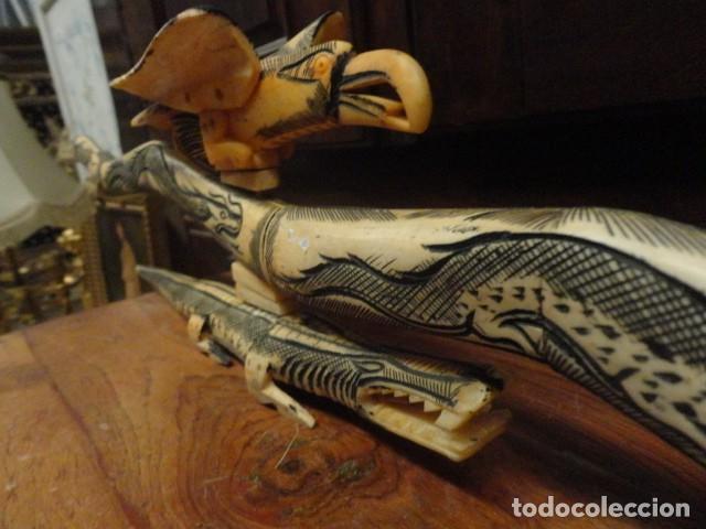 Arte: Dragon orientan realizado en hueso coloreado mide 110 cms de largo - Foto 9 - 167526568
