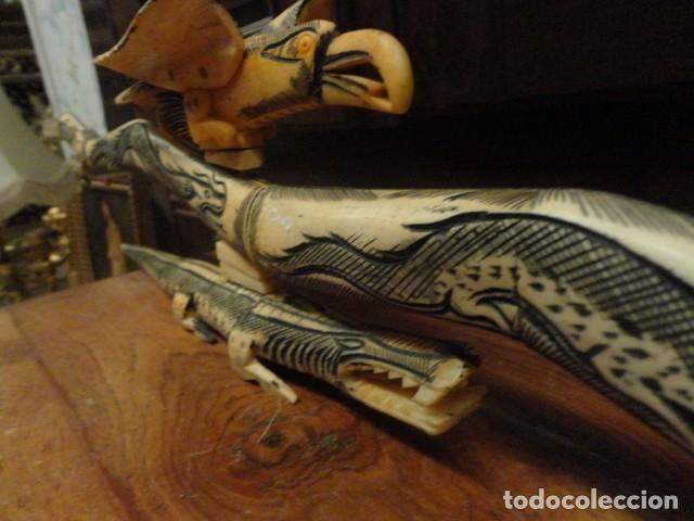 Arte: Dragon orientan realizado en hueso coloreado mide 110 cms de largo - Foto 10 - 167526568
