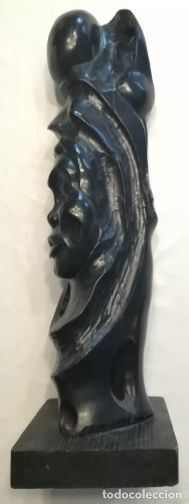 Arte: Cara de indígena tallada en ebano, Cuba - Foto 4 - 167545012
