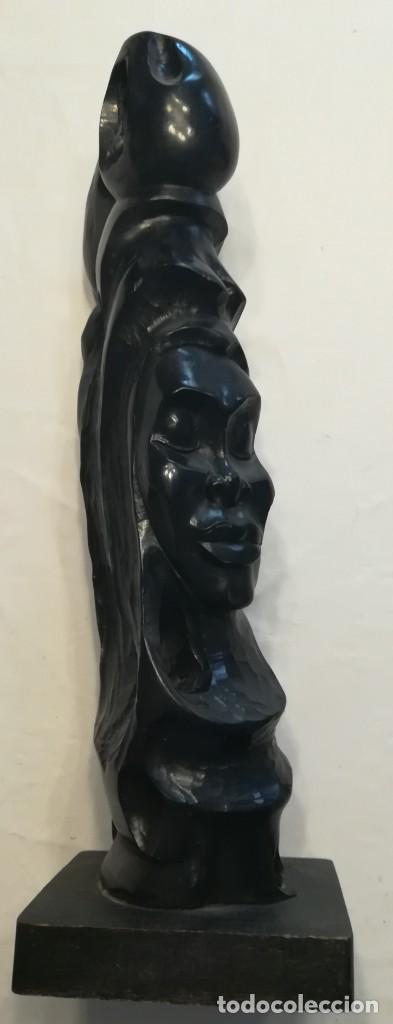 Arte: Cara de indígena tallada en ebano, Cuba - Foto 5 - 167545012