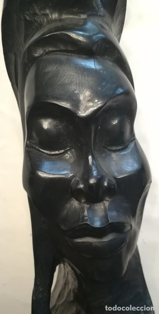 Arte: Cara de indígena tallada en ebano, Cuba - Foto 6 - 167545012