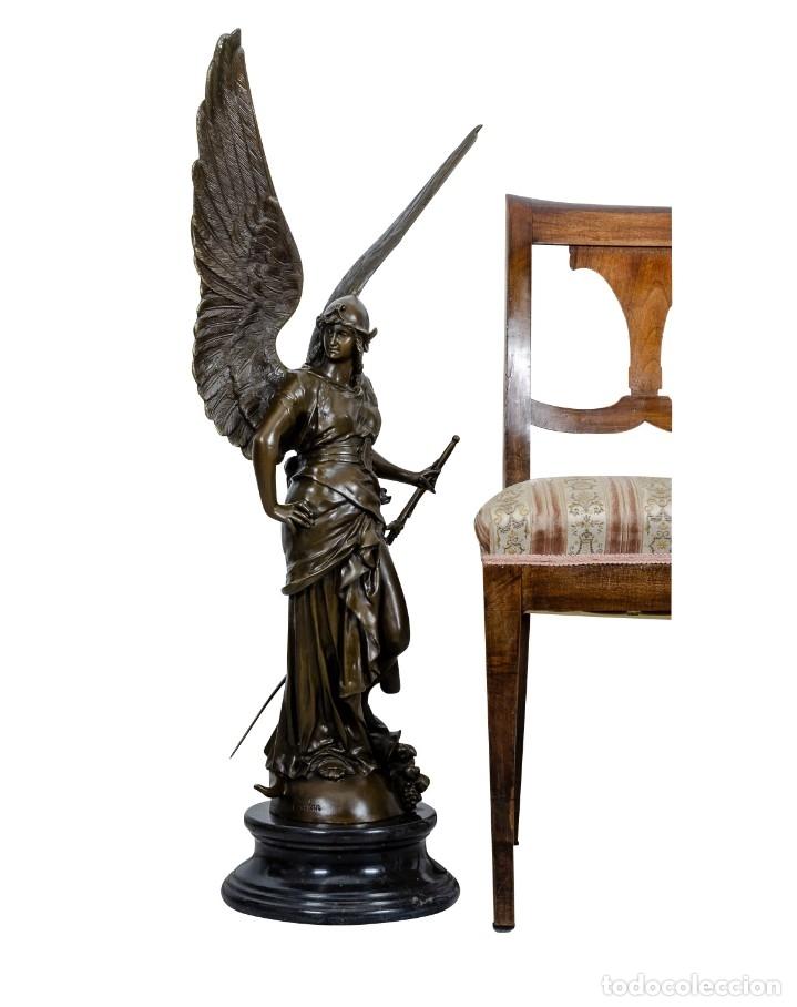 Arte: ESPECTACULAR ESCULTURA DE GRAN TAMAÑO DEL ANGEL DE LA PAZ (95,4cm x 29,7kg) - Foto 9 - 45944585