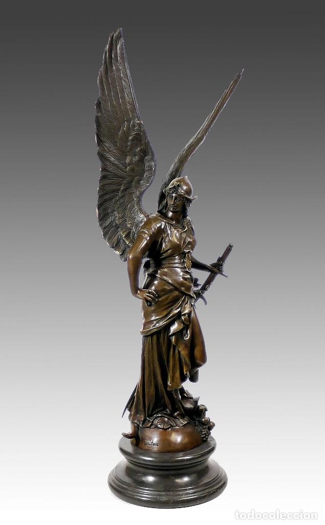 Arte: ESPECTACULAR ESCULTURA DE GRAN TAMAÑO DEL ANGEL DE LA PAZ (95,4cm x 29,7kg) - Foto 2 - 45944585