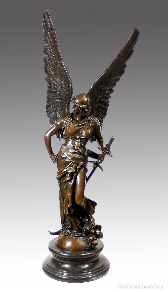 ESPECTACULAR ESCULTURA DE GRAN TAMAÑO DEL ANGEL DE LA PAZ (95,4CM X 29,7KG) (Arte - Escultura - Bronce)