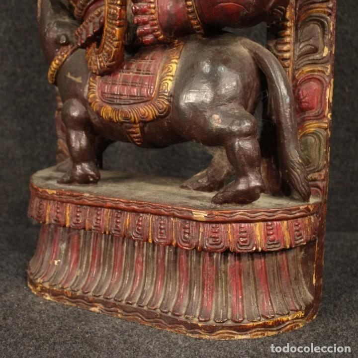 Arte: Escultura india de madera de divinidad - Foto 5 - 167701168
