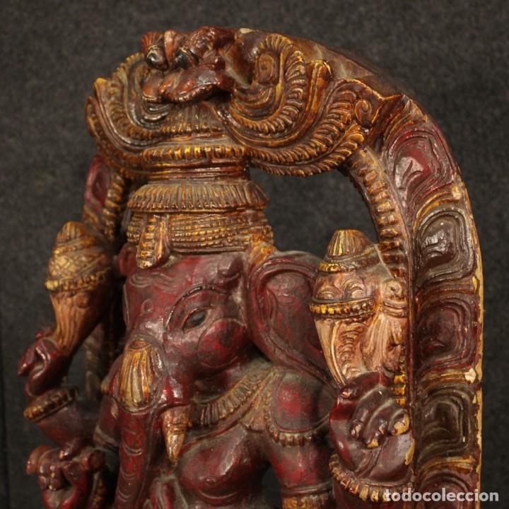 Arte: Escultura india de madera de divinidad - Foto 6 - 167701168