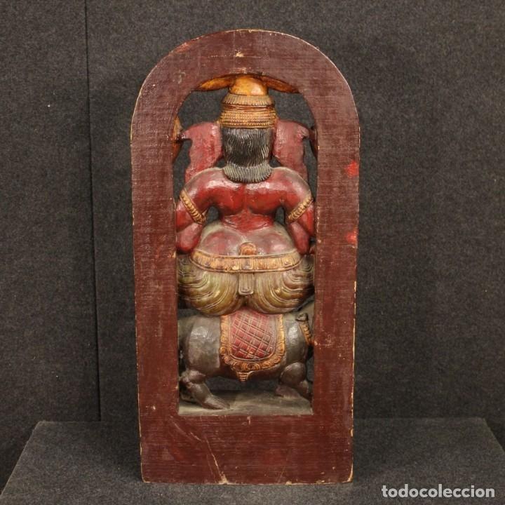 Arte: Escultura india de madera de divinidad - Foto 7 - 167701168