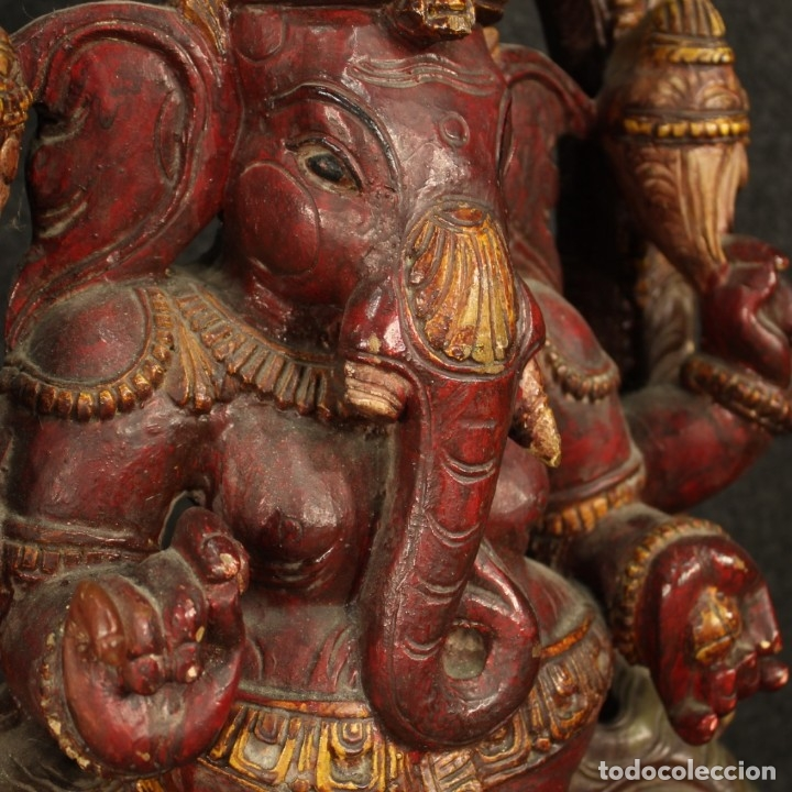 Arte: Escultura india de madera de divinidad - Foto 8 - 167701168
