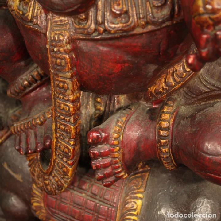 Arte: Escultura india de madera de divinidad - Foto 10 - 167701168