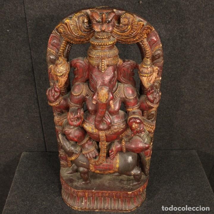 Arte: Escultura india de madera de divinidad - Foto 11 - 167701168