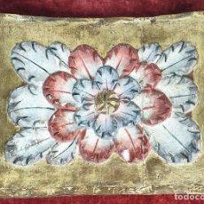 Arte: FRAGMENTO DE RETABLO. MADERA TALLADA Y POLICROMADA. SIGLO XVII-XVIII. . Lote 167954952
