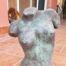 Arte: PRECIOSA Y ELEGANTE ESCULTURA EN BRONCE DE TORSO FEMENINO ALTURA 55 CM SIN PEANA. Lote 168043780