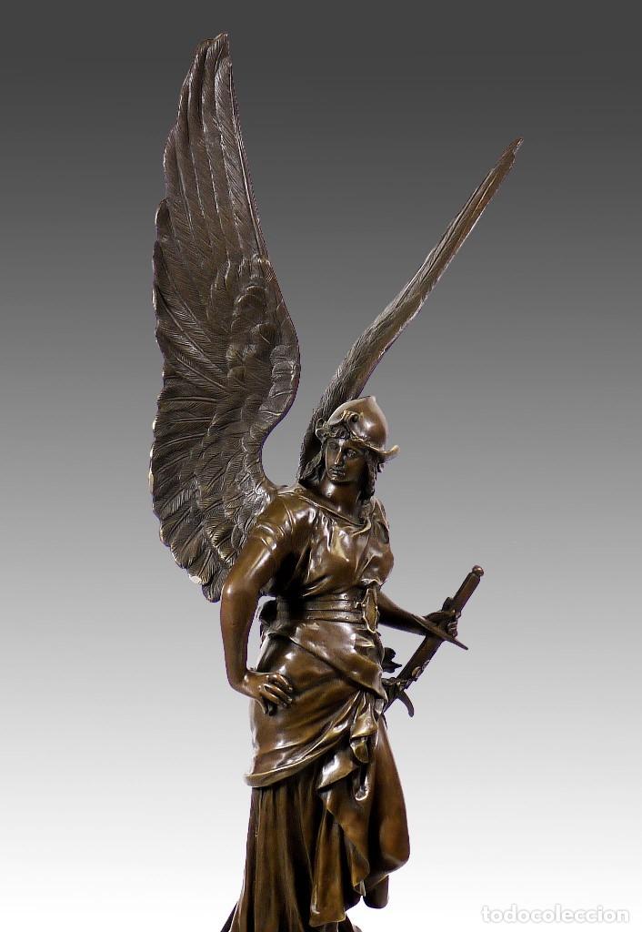 Arte: ESPECTACULAR ESCULTURA DE GRAN TAMAÑO DEL ANGEL DE LA PAZ (95,4cm x 29,7kg) - Foto 4 - 45944585