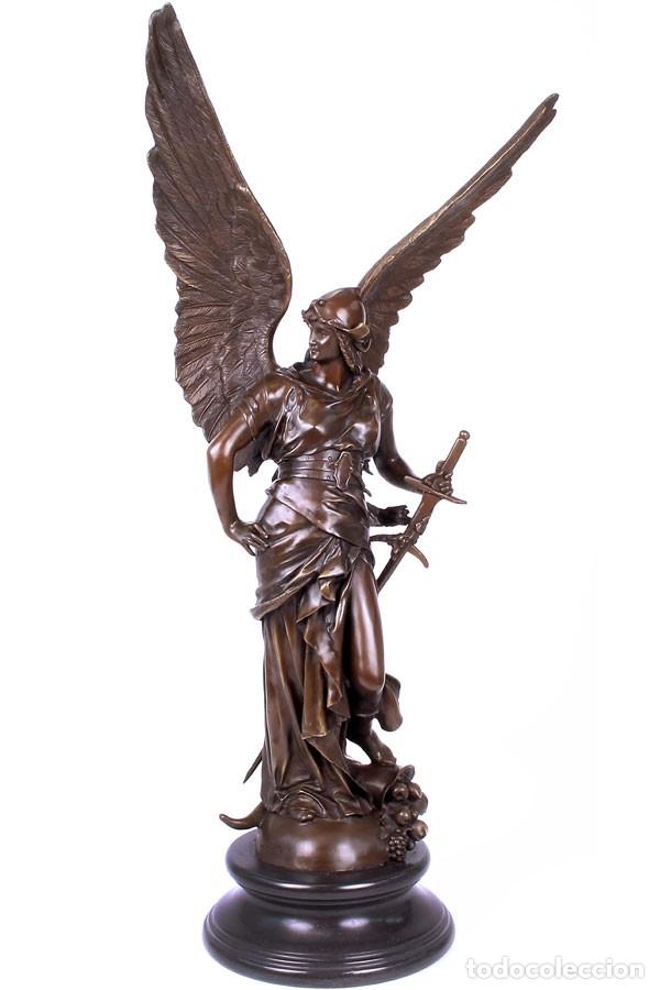 Arte: ESPECTACULAR ESCULTURA DE GRAN TAMAÑO DEL ANGEL DE LA PAZ (95,4cm x 29,7kg) - Foto 12 - 45944585