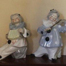 Arte: FIGURAS BANDA PAYASOS 4 MUSICOS PORCELANA TENGRA VALENCIA HECHA A MANO SELLO EN BASE - PESO 3528 GR.. Lote 168702536