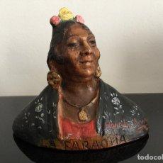 Arte: ESCULTURA EN TERRACOTA REALIZADA Y FIRMADA POR HEREDIA AMAYA DE LA FARAONA. Lote 168791082