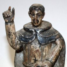 Arte: INTERESANTE TALLA DE SAN VICENTE FERRER EN MADERA POLICROMADA DEL SIGLO XVIII. Lote 168802396