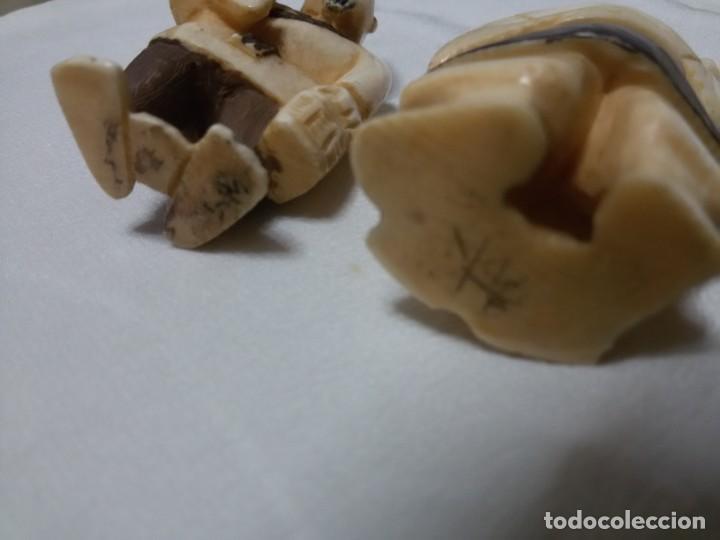 Arte: Pareja de netsuke de marfil - Foto 8 - 168870568