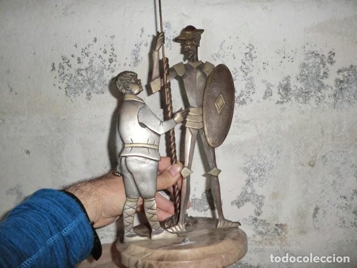 FIGURA DE HIERRO O FORJA DE DON QUIJOTE Y SANCHO PANZA (Arte - Escultura - Hierro)