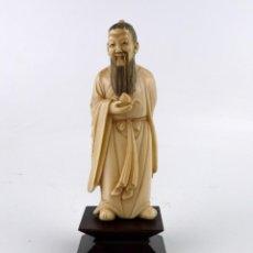 Arte - Figura oriental tallada en marfil y policromada - Primera mitad S.XX - 169015444
