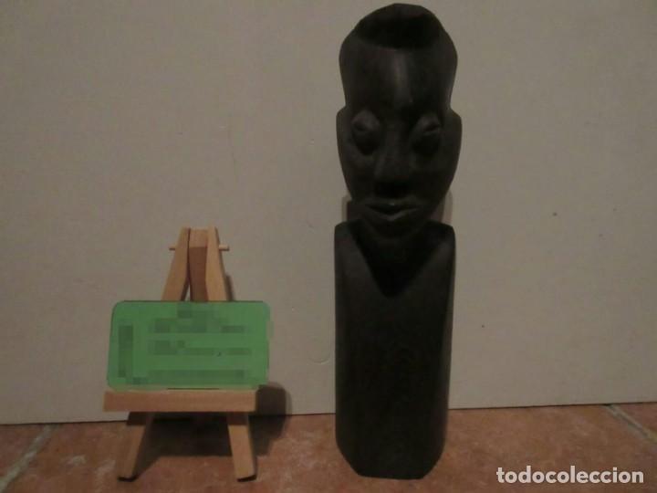 BUSTO AFRICANO DE MADERA (Arte - Escultura - Madera)