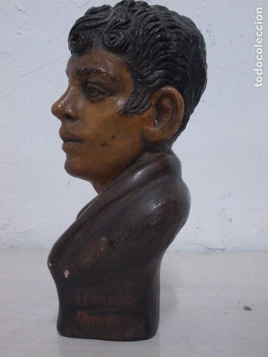 Arte: ANTIGUA FIGURA DE TERRACOTA FIRMADA VARGAS HEREDIA MUY BONITA - Foto 7 - 169310552