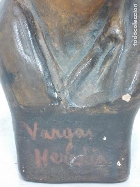 Arte: ANTIGUA FIGURA DE TERRACOTA FIRMADA VARGAS HEREDIA MUY BONITA - Foto 9 - 169310552