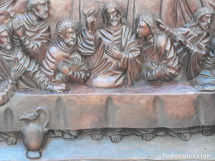 Arte: TALLA GRANDE DE MADERA EN BAJORRELIEVE - LA SANTA CENA - - Foto 4 - 169351720