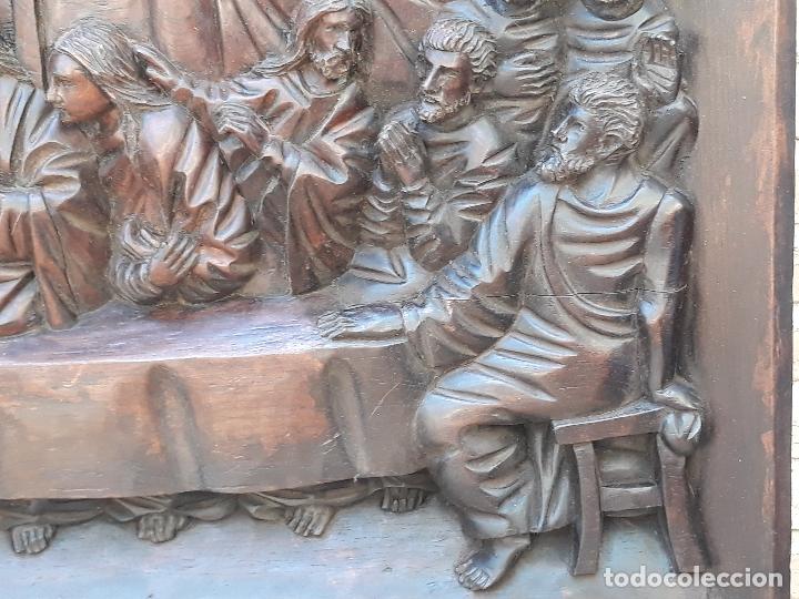 Arte: TALLA GRANDE DE MADERA EN BAJORRELIEVE - LA SANTA CENA - - Foto 6 - 169351720