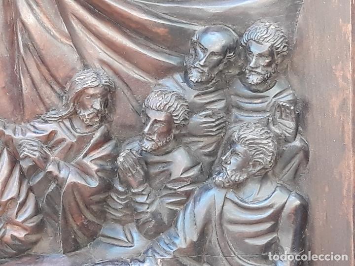 Arte: TALLA GRANDE DE MADERA EN BAJORRELIEVE - LA SANTA CENA - - Foto 8 - 169351720