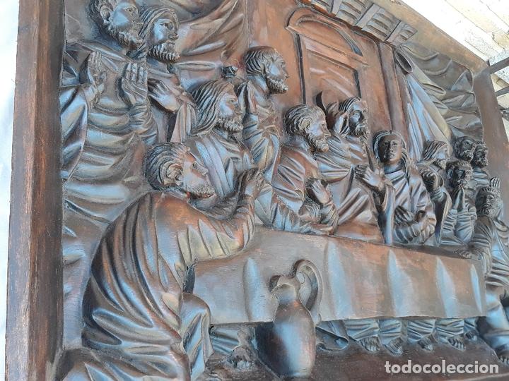 Arte: TALLA GRANDE DE MADERA EN BAJORRELIEVE - LA SANTA CENA - - Foto 9 - 169351720