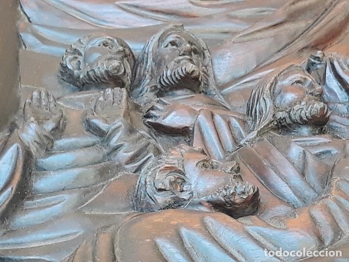 Arte: TALLA GRANDE DE MADERA EN BAJORRELIEVE - LA SANTA CENA - - Foto 10 - 169351720